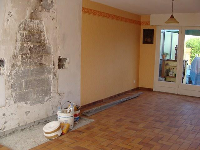 Pose de carrelage (avant travaux)